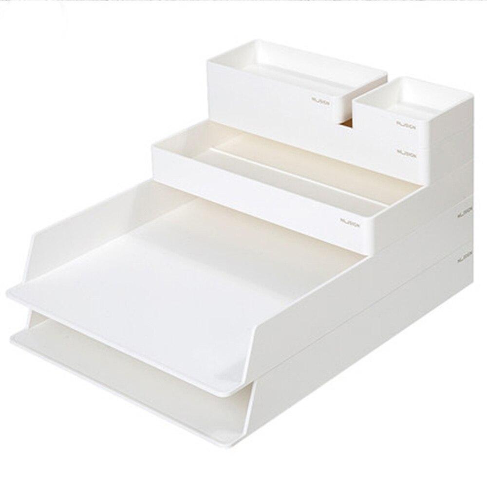 Nusign Desktop Office Storage Box Cabinet Simple Bookshelf Book Stand File DIY Multi-layer File Basket For Office School