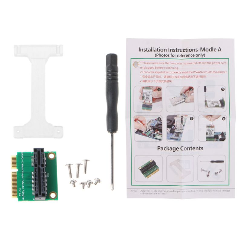 Mini PCI-E/mSATA Adapter Vertical Installation Converter for 3G/4G WWAN LTE GPS 85WD