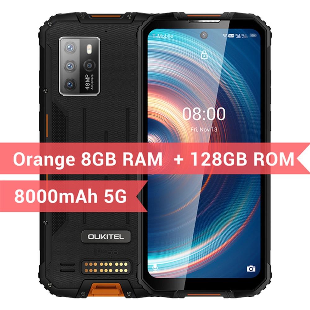 Перейти на Алиэкспресс и купить OUKITEL WP10 5G прочный смартфон глобальная версия 48MP Quad Camera 8 ГБ + 128 ГБ 8000 мАч 6,67 ''FHD FullScree NFC мобильный телефон
