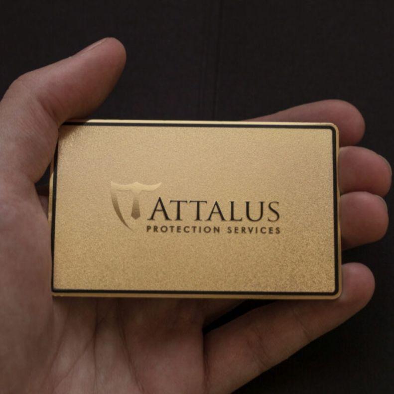 Custom gold brushed metal visiting cards name metal business card