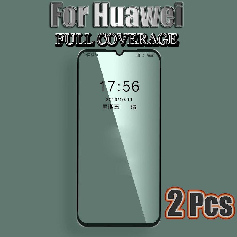 Vidrio Protector para Huawei P8 P9 P10 P20 P30 Lite Protector de pantalla para Huawei P20 Pro P9 P10 Plus funda completa templada