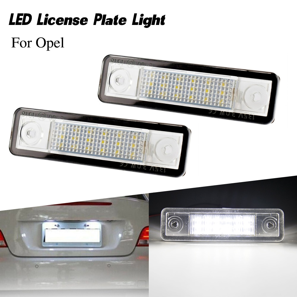 2 Pçs/lote Luces Led Placa Número de Licença de Luz da lâmpada Do Carro para Opel Corsa B Vectra Astra F Estate Astra G saloon Omega Signum Zafira