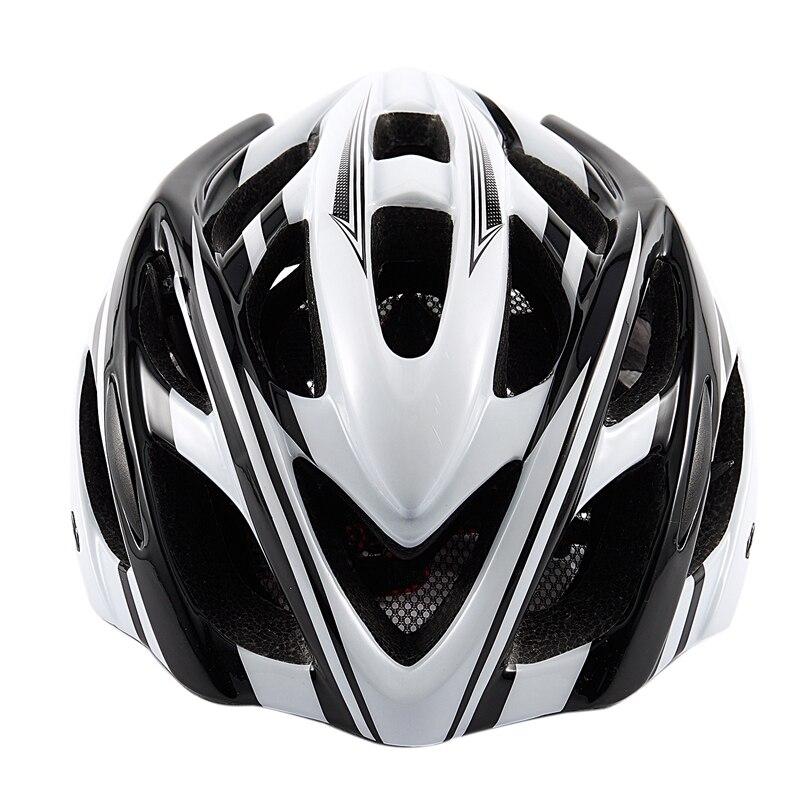Casco de montar una forma casco de bicicleta de montaña color del casco de bicicleta blanco y negro