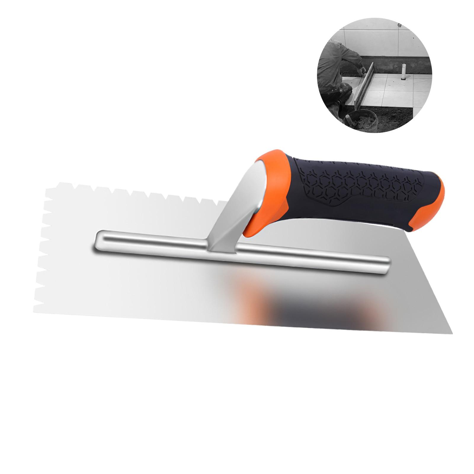 Квадратный Мастерок из углеродистой стали 28x11 см с пластиковой ручкой для ручных инструментов, кирпичная кладка промышленного класса