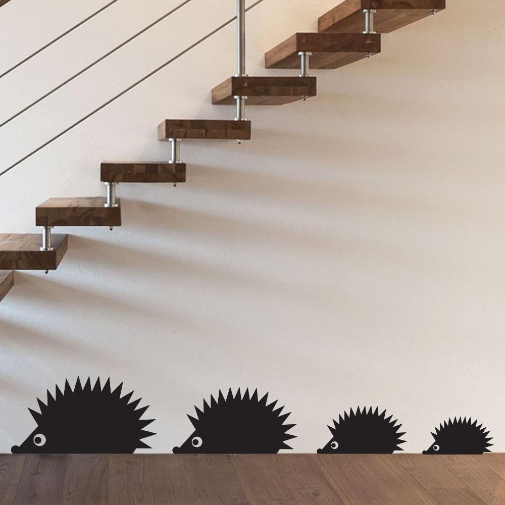 Black Cartoon Hedgehog Wall Sticker for Children Room Living Room Windows Home Decor Wall Art Decals Glass Sticker Decoration