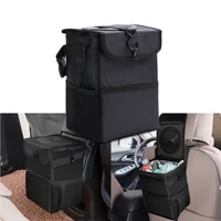 waterproof portable car trash can bin auto car accessories organizer garbage dump for trash can cars storage pockets closeable
