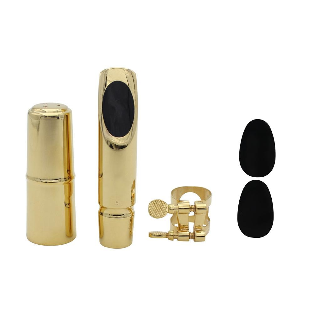 Set de cabeza de flauta para saxofón Alto e-flat pulida a mano profesional boquilla de soplado de Metal con tapa de cabeza de flauta cojín dental