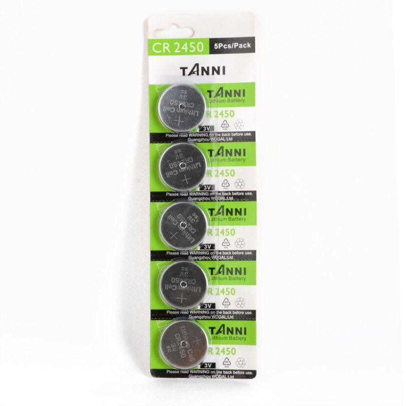 5 pcs/pack CR2450 Batteries 3V Watch Button Cell Batteries Toys Calculator Remote Controls Lithium Battery Accessories