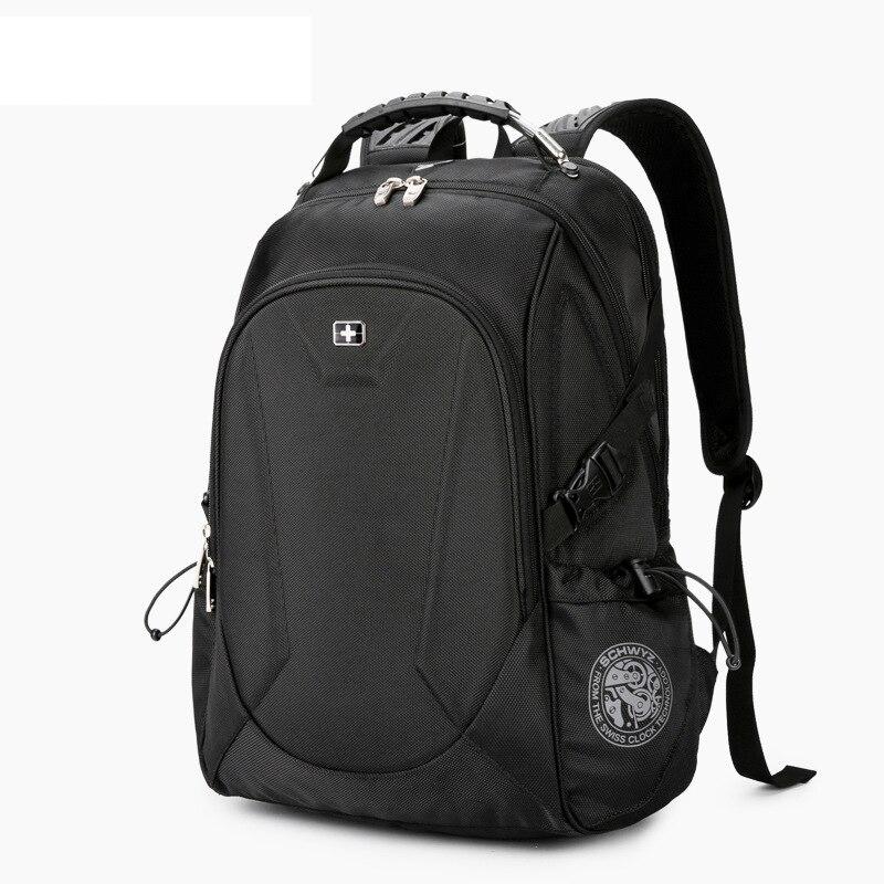 Mochila suiza para ordenador portátil de 15,6 pulgadas, Mochila de viaje para hombres, Mochila de negocios con ventilador, Mochila escolar, mochilas antirrobo a prueba de agua