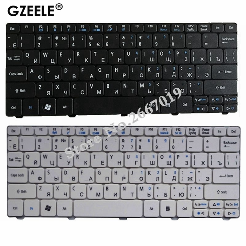 GZEELE Keyboard for Acer Aspire One D255 D255E D257 AOD257 D260 D270 AOD260 AO521 AO532 AO533 532 532H 521 533 RU RUSSIAN