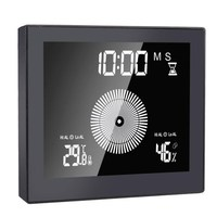 Digital Timer Wall Clock Upper and Lower Limit Temperature and Humidity Display Waterproof IP65 Bathroom Table Alarm Clock