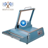 bespacker fql 380 manual l bar sealing and cutting machine connect with heat shrinkable packaging wrapping machine
