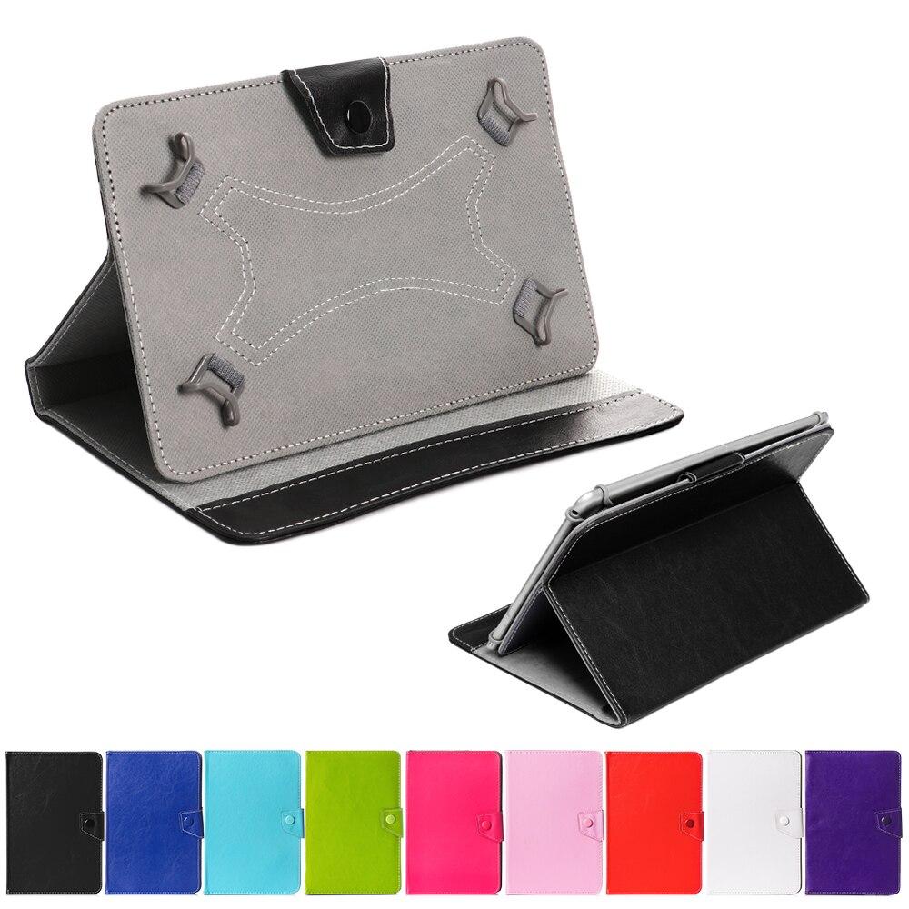 Capa flip universal de couro para tablet, capa estilo flip de suporte para samsung amazon android tablet 7 polegadas, 1 peça
