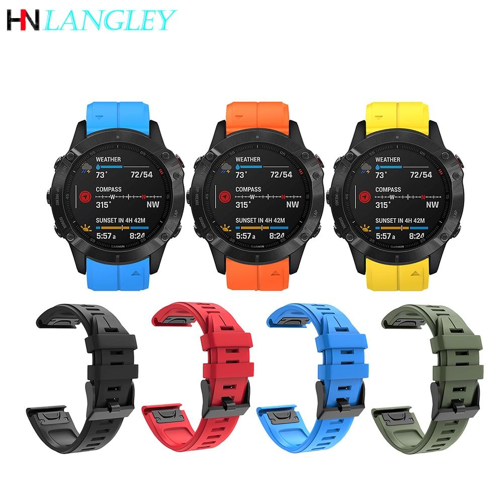 Soft Silicone Watch Band For Germin Fenix 6 Pro Bands Easy Fit 22mm for Fenix 6 Pro/Fenix 5 Plus/Fenix 5 / Forerunner 935 945