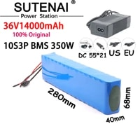 ebike 36v 14ah battery ebike battery pack 18650 li ion battery 350w high power and capacity 42v motorcycle scooter with charger
