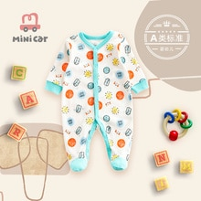 Baby one piece Romper spring and autumn climbing clothes boy baby long sleeve go out one piece cloth