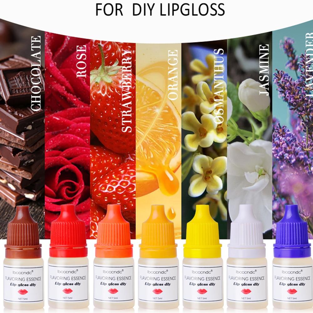 Esencia de sabor Natural de 7 sabores, brillo labial cosmético hecho a...
