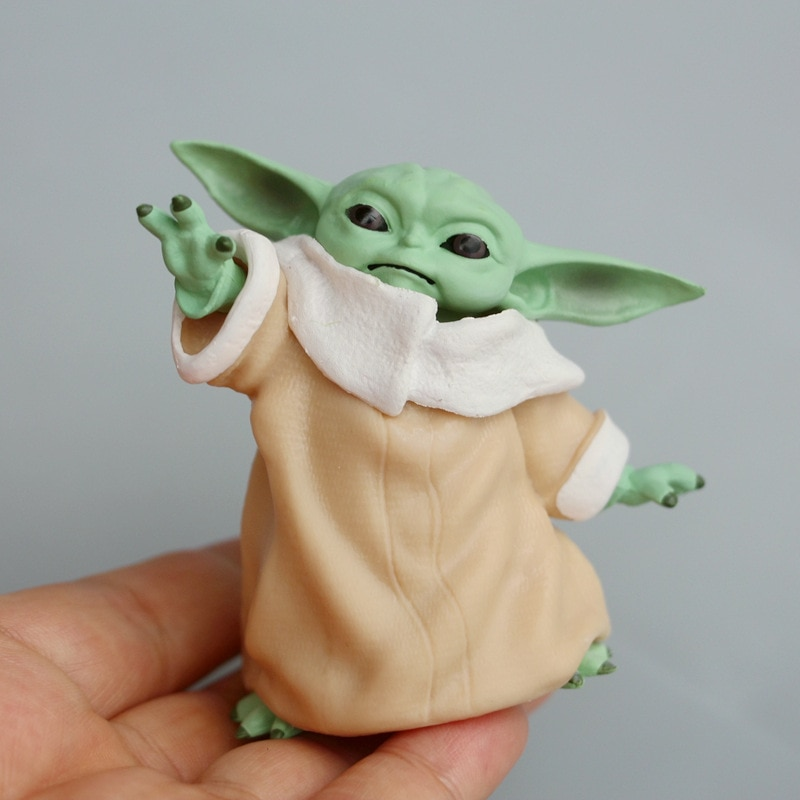 7cm Disney Star Wars Toy Master Baby Yoda Darth PVC Action Figure Anime Figures Collection Doll Mini Toy Model for Children Gift