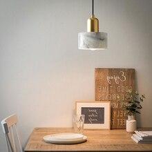 Moderne pendentif lumière marbre matériel lampe chambre chevet barre Table salon cuisine suspension lampe maison déco luminaires