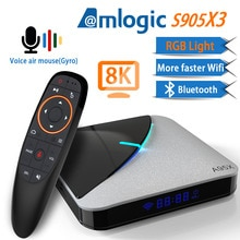 Transpeed A95X F3 Aria 8K Android 9.0 TV BOX Amlogic S905X3 4K Google Assistente Vocale wifi 4GB 16GB 32GB 64GB RGB Luce TV Box