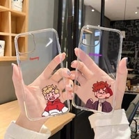 dream smp japanese anime phone case for iphone 13 12 11 8 7 plus mini x xs xr pro max transparent soft