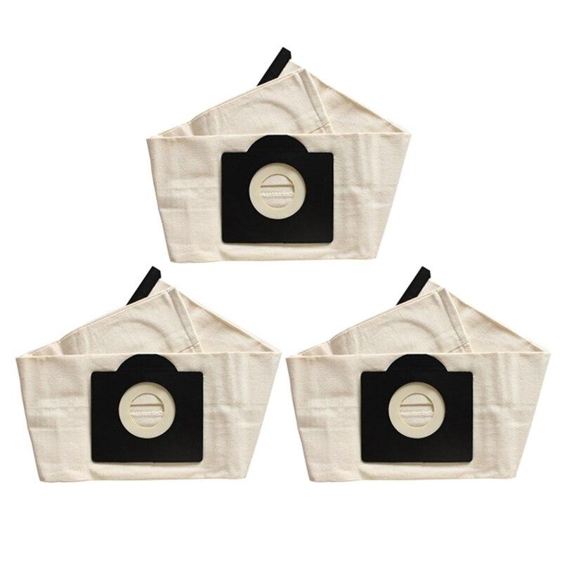 3 قطعة قابل للغسل كارشر WD3 الغبار أكياس القماش مكنسة كهربائية أكياس