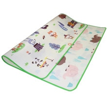 Baby Spielen Matte 0,5 cm Dicken Kriechende Matte Doppel Oberfläche Baby Teppich Teppich Zoo + Obst Alphabet Entwicklung Matte für kinder Spiel Pad