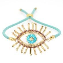 Go2boho Pulseras Mujer Bracelet pour femmes Bracelets bijoux Bracciali mode mauvais œil réglable MIYUKI fait à la main Ojo Turco