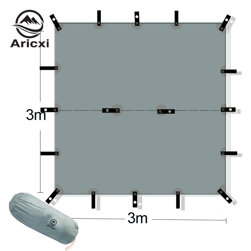 ARICXI 15D silicone coated nylon ultra light tarp Outdoor awning tarp  light weight portable  camping shelter sunshade tent tarp