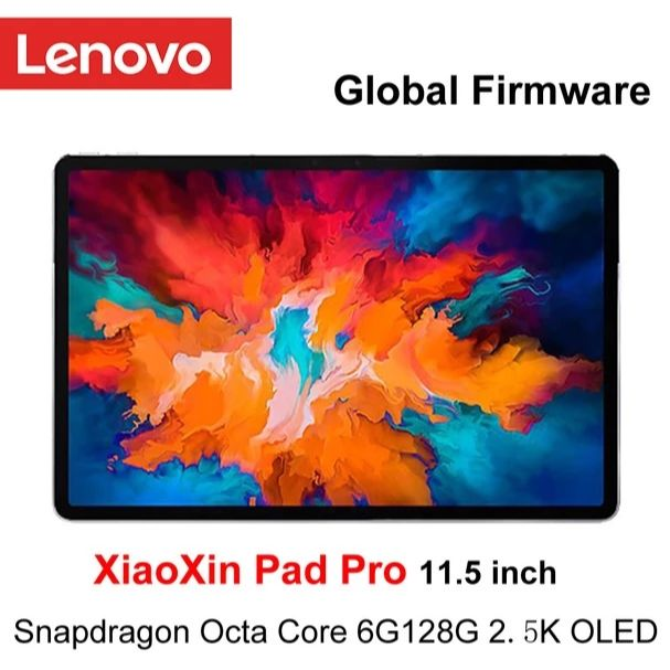 Global Ffirmware Lenovo XiaoXin Pad Pro Snapdragon Octa Core 6GB RAM 128GB 11.5 inch 2.5K OLED Screen lenovo Tablet Android 10