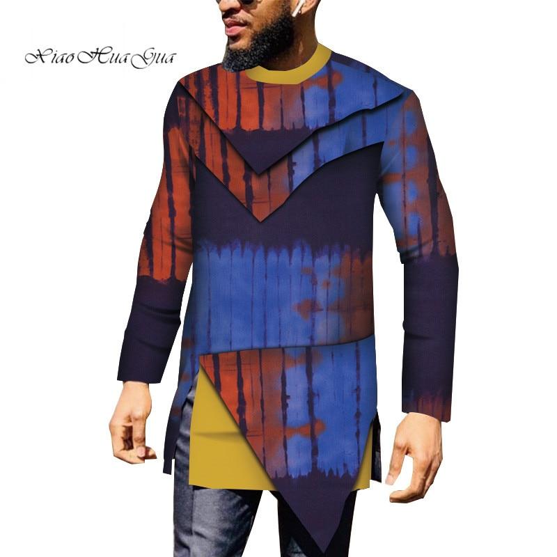 Повседневная мужская африканская одежда, рубашка Дашики, Лоскутная рубашка с Африканским принтом, топы базин богатый, традиционная африкан...