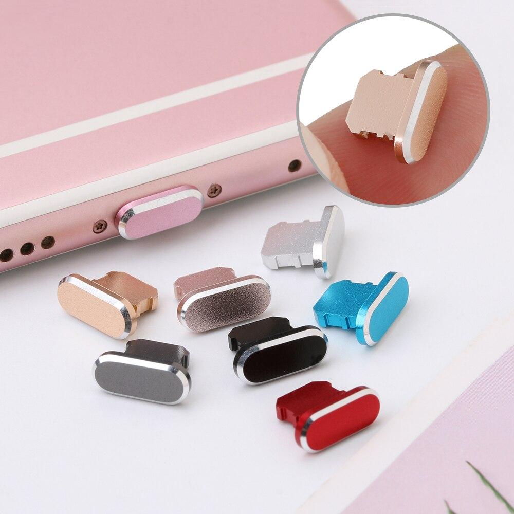 11 видов цветов 1 шт. цветная металлическая противопылевая заглушка зарядного устройства для IPhone 11 12 Pro MAX X XR Max 8 7 6S Plus-4