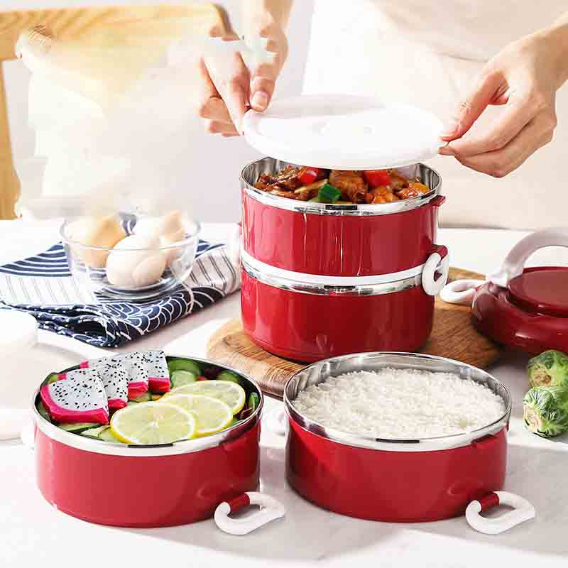Microwave Lunch Box Dinnerware 304 Stainless Steel Food Storage Container Children Kids School Office Portable Bento Box Lunch