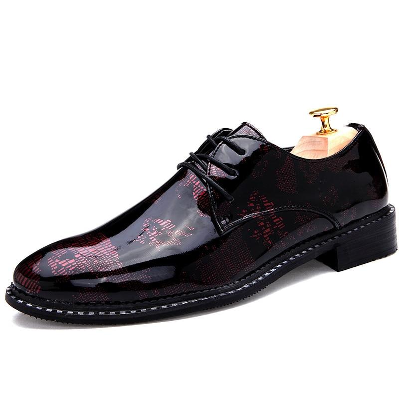 Los hombres Zapatos de cuero Calzado Hombre Zapatos de Vestir Schuhe Herren...