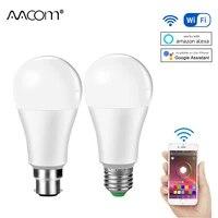 Ampoule LED intelligente WiFi 15W E27 B22  lampe de nuit intelligente a intensite variable  pour alexa google Home Assistant Echo