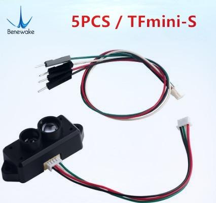 5 uds. Mejora el módulo del Sensor del buscador de rango de Benewake TFmini-S Lidar de un solo punto Micro rango para el Drone Arduino Pixhawk UART IIC