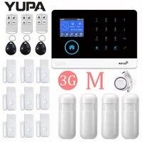 YUPA     systeme dalarme de securite domestique intelligent  wi-fi 3G  Anti-vol  sans fil  ecran LCD colore TFT 2 4 pouces