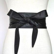 New Wide Waistband Ladies Fashion Decorative Ribbon Bow Tie Women Fashion  White Belt Soft and Comfortable Designer Belt Green
