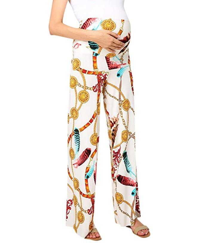 Wearing pregnant women's pants 2019 new printing Loose Pregnant woman