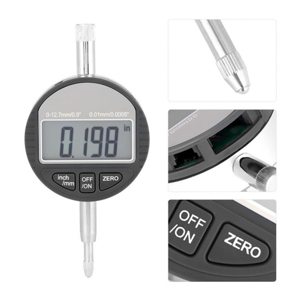 New 0.001mm Electronic Thickness Gauge 0-12.7mm/1inch  Digital Micrometer Meter Micrometro Tester