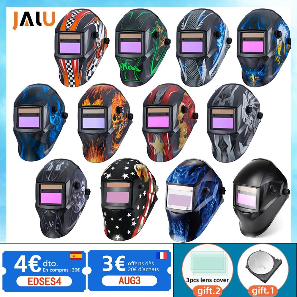 Welding mask Solar Automatic Li battery Electric DIN4/9-13 TIG MIG Welding helmet Auto Darkening Welding Mask