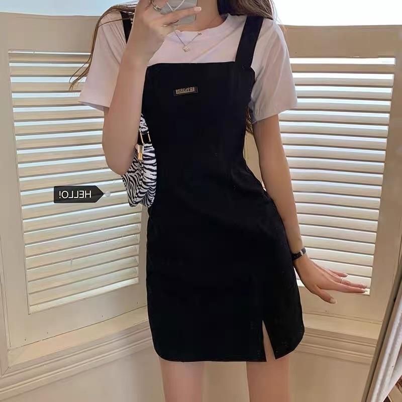 Temperament Bodycon Casual Korean Dress New Summer Women's Clothes Hot Girl Design Sense Harajuku To