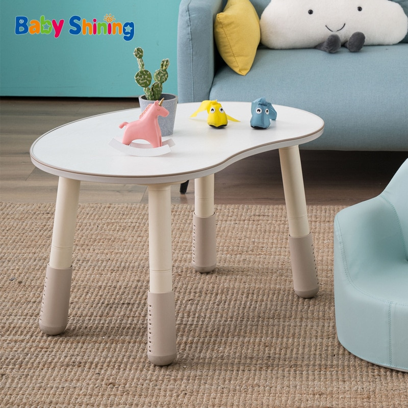 Children's Table Adjustable Baby Game Desk Kids Study Homework Desk Eating Table And Chairs Liftable Early Education Furniture