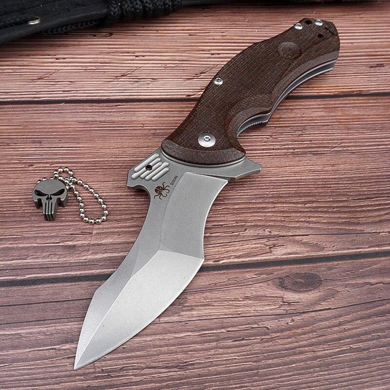 HWZBBEN S35VN سكين للفرد أدوات تكتيكية لحفظ الحياة جيب السكاكين الصيد التخييم العسكرية بقاء الدفاع عن النفس سكين EDC أدوات متعددة
