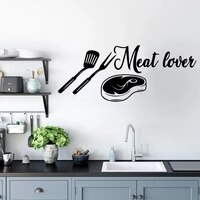 Autocollant dart mural de cuisine de dessin anime  decoration de mode pour chambres denfants  papier peint de decoration de fete a domicile