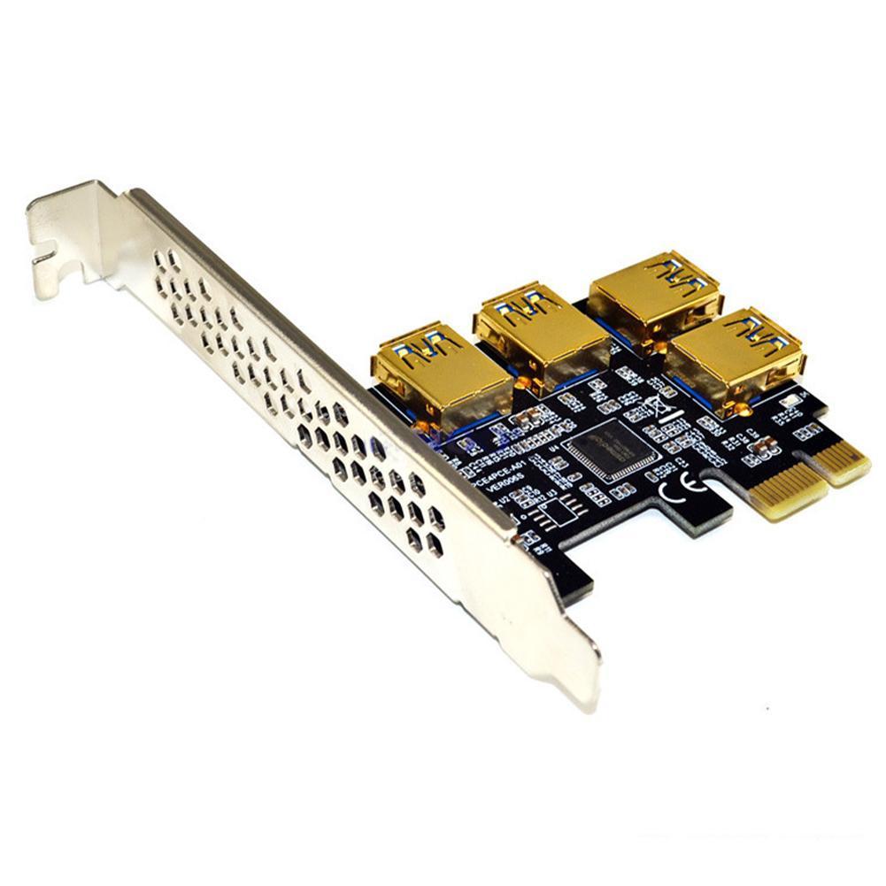 بطاقة محول PCI-E من 1 إلى 4PCI-E ، فتحة PCI-E لـ 4 منافذ usb 3.0