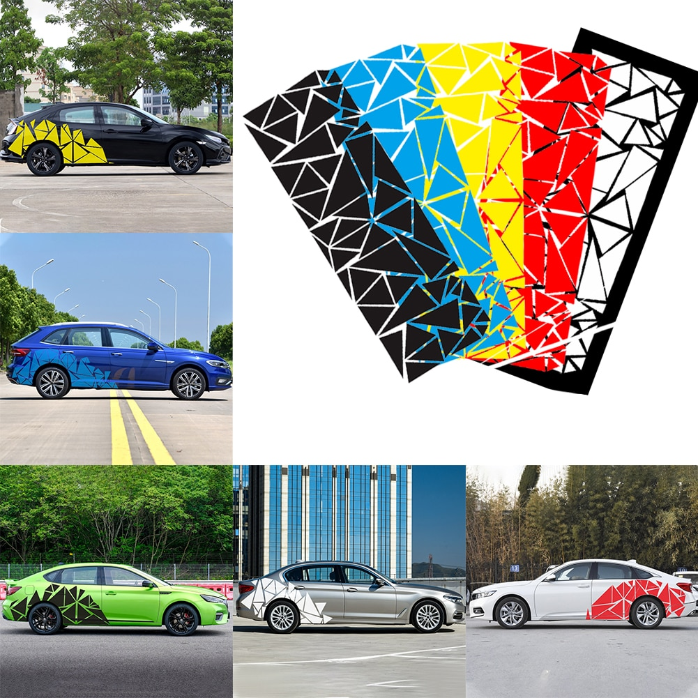 SALE 1Pcs Universal Glossy Black Freestanding Triangle Graphics Decal Sticker for Car Side Body Car Accessories Dropshipping