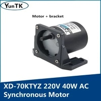 220v 40w ac synchronous motor with a bracket low speed forward and reverse small motor adjustable directionhigh torque