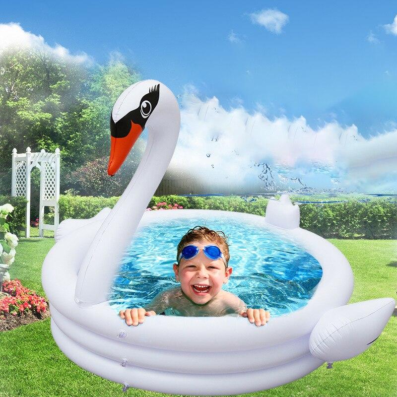 1,5 м большие плавательные бассейны для детей, Надувные круглые плавательные ванны для купания, утолщенные Детские Портативные ванны с рисун...