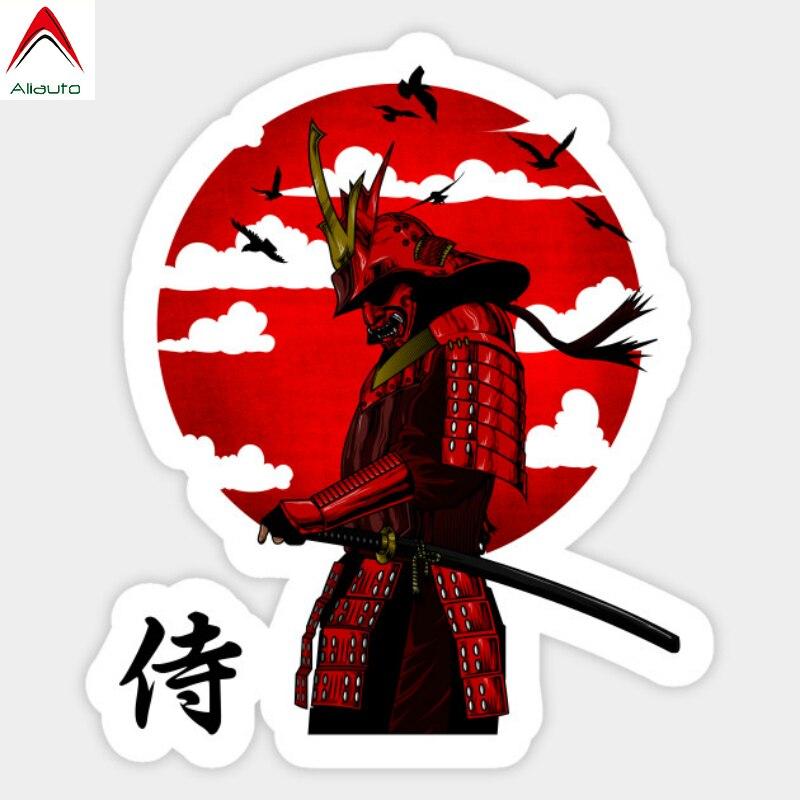 Aliauto Personality Car Sticker Samurai Warrior Vinyl Decal for Trolley Case Table Skateboard Fridge Passat Peugeot,15cm*13cm